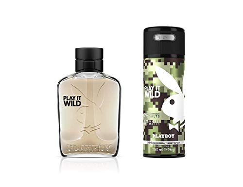 Playboy Wild For Men Gift Set (Edt100ml + Bs150ml), 250 ml
