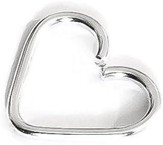 Fine Sterling Silver Heart Cartilage Hoop Earring 24G 22G 21G 20G 18G 16G 14G Daith Tragus Helix Conch Orbital Rook Snug