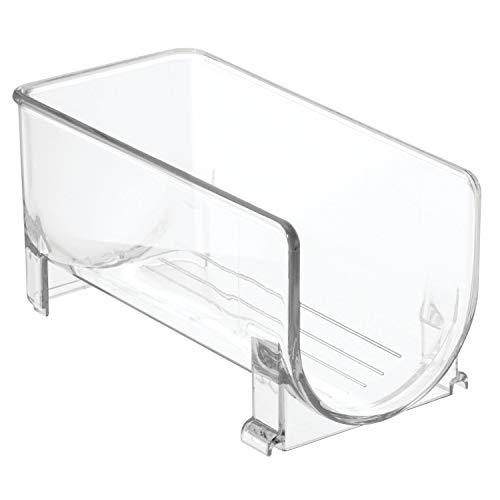 InterDesign Fridge/Freeze Binz Botellero de vino para 1 botella, estante apilable en plástico, botellero para frigorífico, transparente