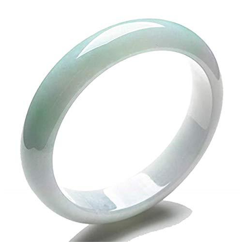 Frauen Nature Güteklasse A grün lavendel Jadeit Jade Gems Armband Armreif Größe 56mm