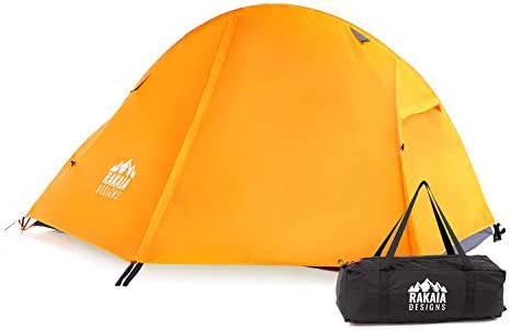 1 Person Lightweight Backpacking Tent with Stakes...