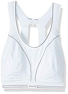 Shock Absorber B5044 Women's Run Sports Bra - White/Silver, 32B (B00368CLIM) | Amazon price tracker / tracking, Amazon price history charts, Amazon price watches, Amazon price drop alerts