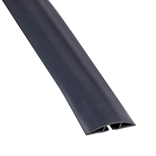 Cordinate, Black, 6 Ft Floor Cord Cover, Rubber, Low Profile, Cable Protector, 43003