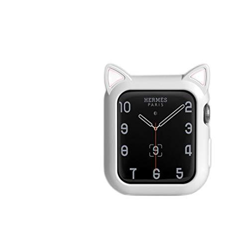 Caso del reloj para Apple Watch 6 SE 5 4 40mm 44mm cubierta protectora silicona dibujos animados gato orejas caso para IWatch Series 3 2 42mm 38mm