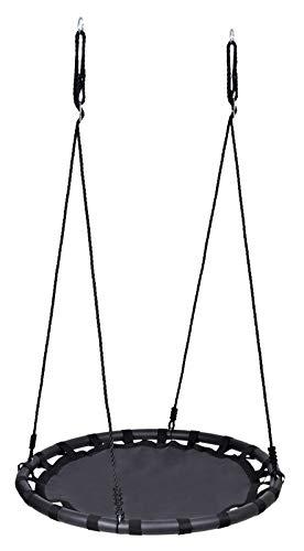 Nido Redondo Colgante de Columpios para niños, Ajustable en Altura, por hasta 200 kg, 110 cm de Gran Capacidad de Gran Capacidad Colgando de árboles Traseros al Aire Libre