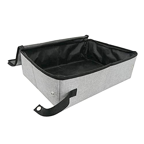 Portable Cat Litter Box Waterproof Folding Litter Bag with Cover S/L Oxford Cloth Pet Cat Toilet for Home Travel Camping