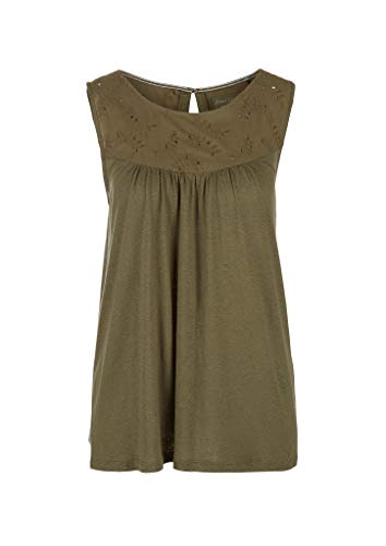 s.Oliver RED LABEL Damen Fabric-Mix-Top mit Lochstickerei olive 46