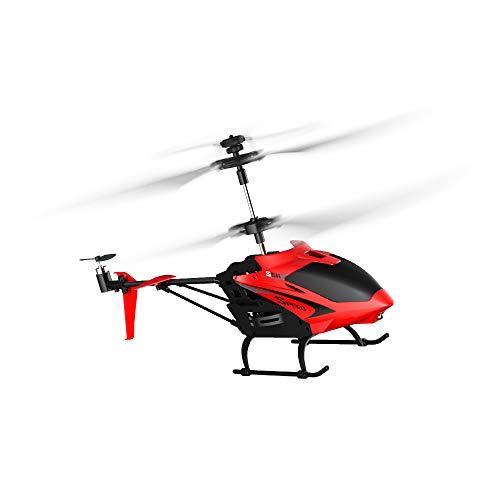 RC TECNIC Helicóptero Teledirigido para Niños Phantom con Batería Recargable Emisora 2.4 GHz de 3.5 Canales 22 cm de Longitud Vuelo Interior / Exterior, Especial Iniciación (Rojo)