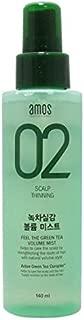 Amore Pacific Amos Feel The Green Tea Volume Hair Mist 140 ml / 4.7 Oz, All Hair Types , Made in Korea