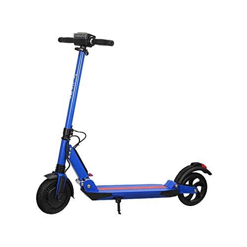 WAWZNN Monopattino Elettrico Pieghevole per Adulto Mini Hoverboard Scooter, velocità Massima 15 km/h, Carico 200 kg, Massima Resistenza 30KM, Regolabile in Altezza, per Adulti e Adolescenti,Blu