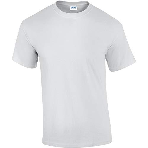 Gildan - Ultra Cotton - Maglietta 100% Cotone - Uomo (5XL) (Bianco)