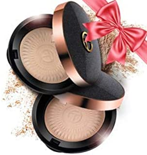Face Powder Compact Translucent Mineral Finishing Formula. Setting Foundation and Face Makeup Matte for Oily Skin. Fit for All Skin Tones. Loose Puff. Christmas Gift For Girls Mom Women Girlfriend