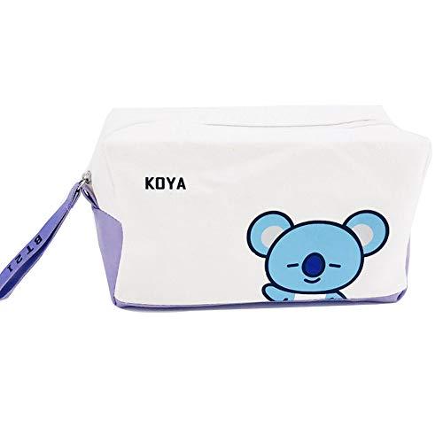 Bolsa de almacenamiento BTS, bolsa de almacenamiento multifuncional Kpop Bangtan Boys lLarge Capacity para joyería, papelería y artículos pequeños (KOYA)