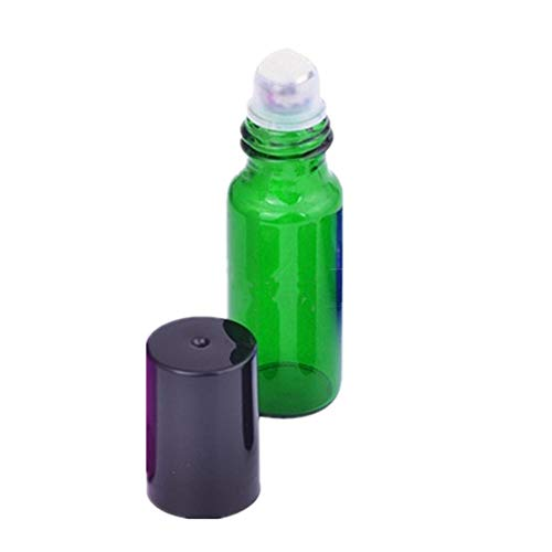 Preisvergleich Produktbild MOPKJH Ätherisches Öl Roll On Leer Rollerflaschen für ätherische Öle Ätherisches Öl Flüssigkeitsbehälter Glasrollerflaschen für ätherische Öle 10ml