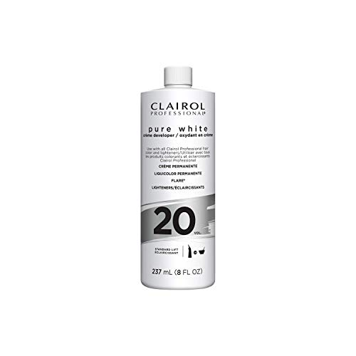 Clairol Professional Pure White 20vol Crme Developer, 8 oz.