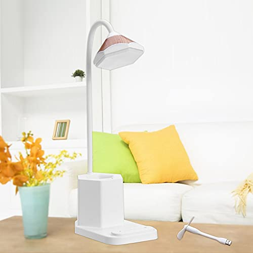 Deelessgz 多機能クリエイティブデスクランプペンホルダーデスクランプデスクトップデスクランプ読書灯収納ペンホルダーナイトライト雰囲気ライトUSB充電小型ファンセット付き