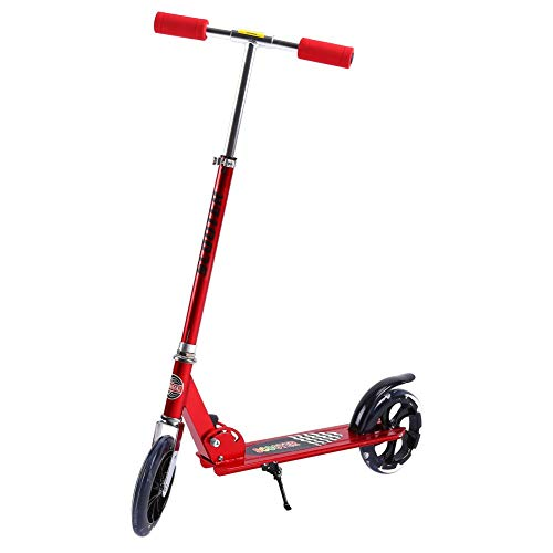 HAOT Patinete,Scooter acrobático, Plegable para niños/Adultos Pro Scooter acrobático Push Bar Altura de Barra Fija Ajustable 95 cm Rojo