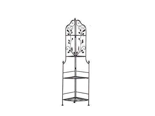 Beliani Vielseitiges Eckregal mit Verzierungen aus Metall mit 4 Ablageflächen Siderno