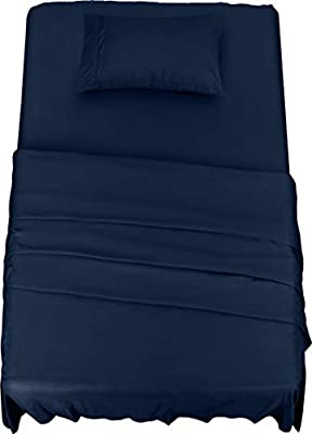 Utopia Bedding Bed Sheet Set - 3 Piece Twin XL Bedding - Soft Brushed Microfiber Fabric - Shrinkage & Fade Resistant - Easy Care (Twin XL, Navy)