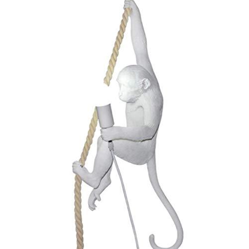 XJJZS Lámpara de araña con Forma de Animal de Resina, lámpara Colgante de Cuerda de cáñamo de ático de Resina de iluminación, Bar, cafetería, lámpara