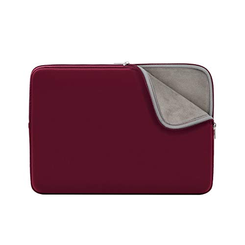 RAINYEAR Laptop Sleeve Case Compatible with 13.3 Inch MacBook Air Pro Touch Bar for 13.3' Notebook Computer Tablet Chromebook 13' Soft Cover Protective Carrying Bag(Red,Upgraded Version)