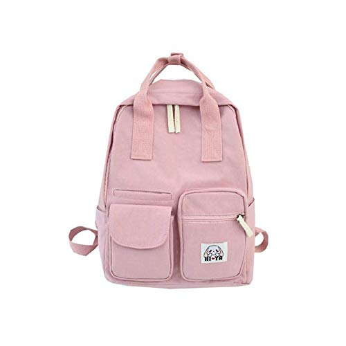 New Multi Pocket Student School Bag Women Canvas Backpack For Teen Girl Laptop Backpack Big Capacity Travel Bookbag Shoulder Bag LATT LIV
