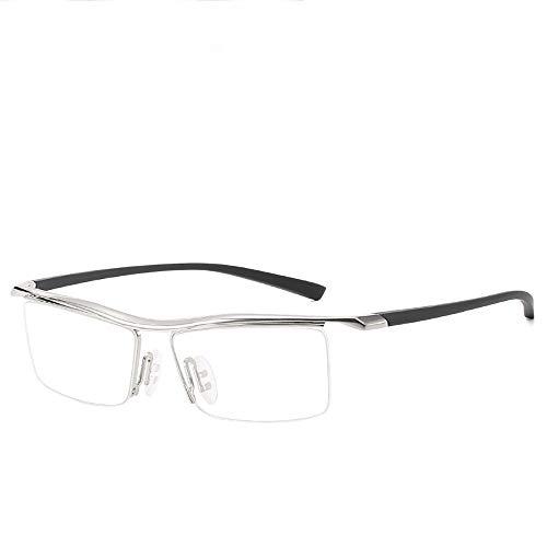 JIAGU Gafas de Sol de Estilo Espejo óptico de plástico Marco miopía luz Plana (Color : C1, Size : Free Size)