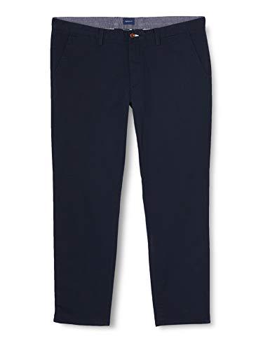 GANT Slim Twill Chino Pantalones, Marine, W36/L32 (Talla del Fabricante: 36/32) para Hombre
