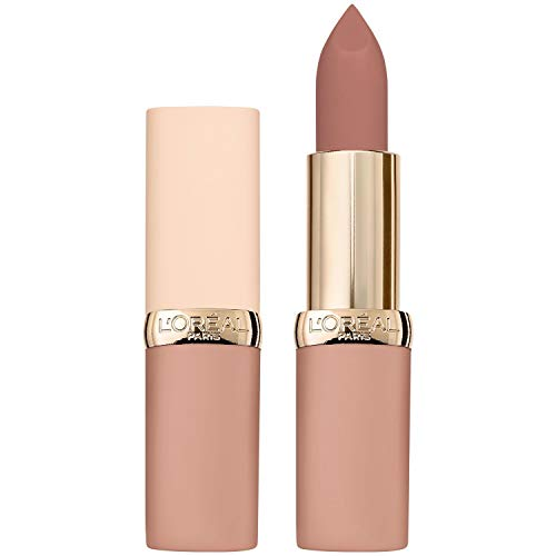 L'Oréal Paris Color Riche Ultra Matte Free the Nudes 03 No Doubts, farbintensiver Lippenstift im zarten Nude-Ton, ultra-mattes Finish
