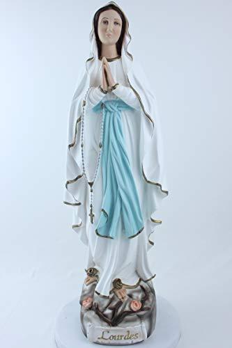 Desconocido Estatua genérica de la Virgen de Lourdes. Altura: 60. Adecuado para ambientes Exteriores e Interiores. Fabricado en Resina vacía. Fabricado y Fabricado en Italia.