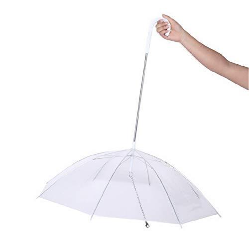 WU Paraguas para Perros Paraguas para Mascotas con Correa Paraguas Transparente para Perros Pequeños Medianos y Gatos