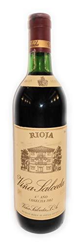 VINA SALCEDA 4° Año añada 1982. El Ciego Rioja Alavesa. Red wine bottle