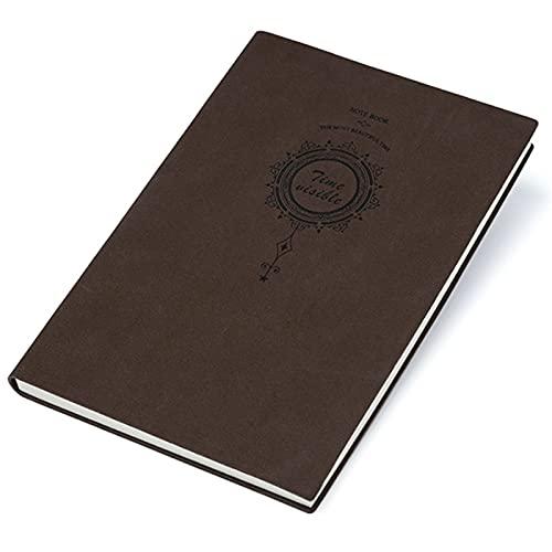 Cuaderno De Cuero SintéTico A5 Cuaderno A5 Cuero A Cuadros Bloc De Notas A5 Cuadrado Tapa Dura Bloc De Notas PequeñO De Cuero Se Utiliza Para Grabar La Oficina Y La Vida(TamañO 8.5*5.7in MarróN)