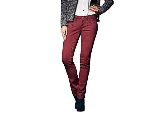 Esmara Damen Stretch - Jeans rot Gr. 36/38 / 40/42 / 44 wählbar (36)