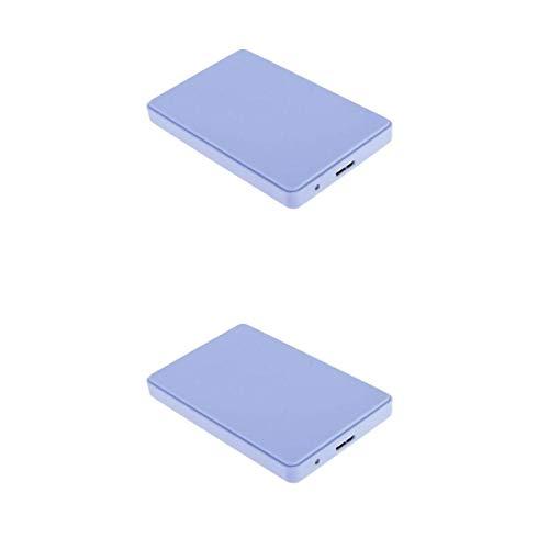 perfk 2X Disco Duro Externo Portátil con USB3.0, Dispositivos de Almacenamiento, Color Azul