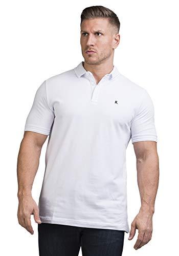 Rosenberg Polo Shirts Herren aus 100% Pique Baumwolle I Poloshirt Herren Classic in Blau Grün und Weiß I Deutsche Marke (S, Weiss)