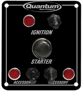 Quantum Race Products QUA350-1555 1 Starter Button 1 Std Ign. 2 Acc.Switch with Lites