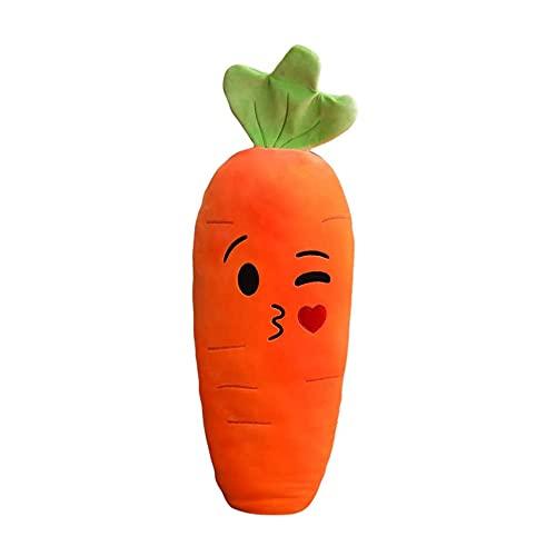 Almohada de Felpa Suave de Zanahoria Bonita, cojín de Juguete de Peluche de Animal, Juguetes, Regalos, Almohadas de Zanahoria para niños, Novia (Cara Sonriente)