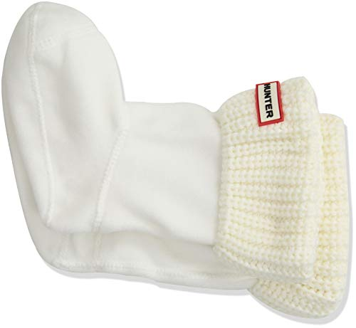 Hunter Kids Half Cardigan Boot Sock White Textile Medium / 28-31 EU
