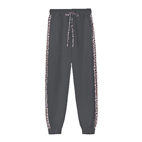 OtoñO E Invierno Estampado De Leopardo De Manga Larga Estampado con Cremallera SuéTer Pantalones Traje Mujer