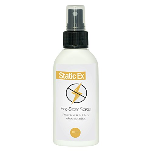 Anti Static Spray by STATICEX | 100 ml | Natural and Organic fabric conditioner | Anti-static spray for furniture, laundry, car | Wardrobe freshener and static cling spray
