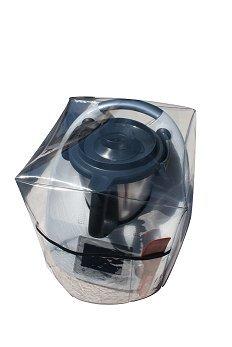 Ma Belle Housse - Housse De Protection Pour Thermomix TM6/Tm5/Tm31 Transparente Sans Varoma Biais Noir