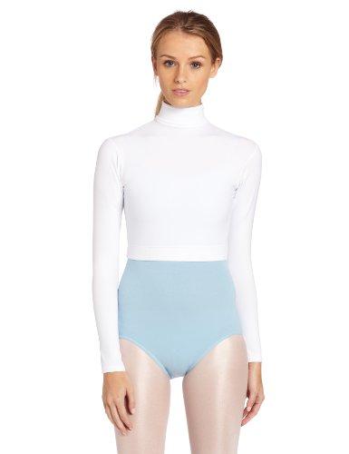 Capezio Women's Turtleneck Long Sleeve Top,White,Large
