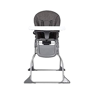 Diroan Fold High Chair, Adjustable Dining Booster Footrest Easy to Clean and Pack Away with Removable Tray and Safety Belt for BAB/Toddlers