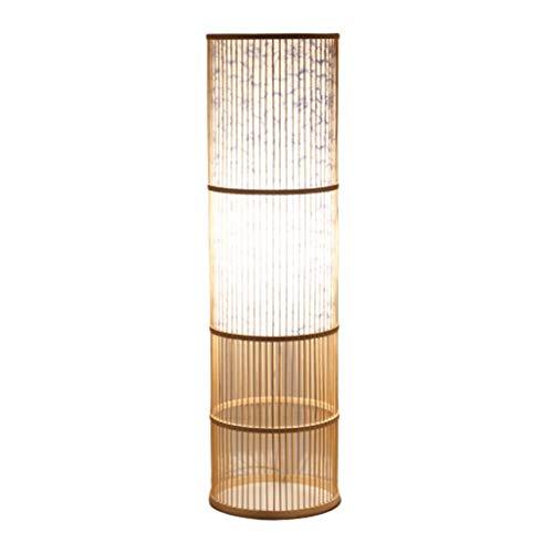 Staande lamp voetlicht Chinese nieuwe Chinese Tea Room woonkamerlamp slaapkamerlamp van bamboe handgemaakte decoratieve vloerlamp