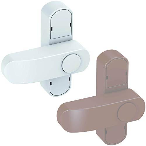 BASI® Fenstersicherung FS 500 für Fenster | Fenstertüren Weiß | Braun Zusatzsicherung Einbruchschutz, Weiß