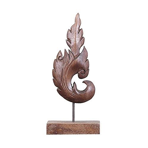 RFGTH Estatua Adornos Esculturas Tótem Tallado a Mano Mobiliario Artesanal Oficina del sudeste asiático Sala de Estar Mesa de Centro Decoración Adornos