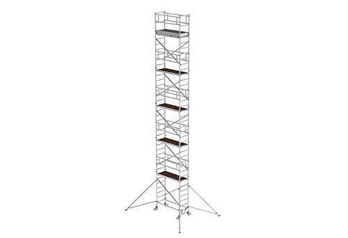 Aluminium rolsteiger met rijbalk*, platformen op 2 m afstand - 155446
