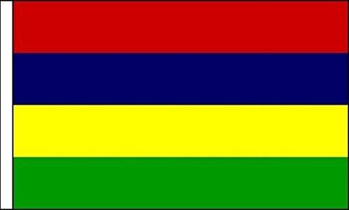 Mauritius Premium Satijn Tafelvlag 22.5x 15cm Paal & Basis Niet Inc