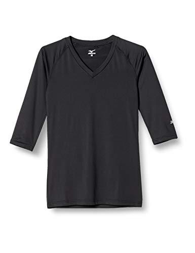 [ミズノ] インナーウェア メンズ 七分袖 Vネック スクラブインナー[ストレッチ/吸汗速乾]一年中爽やか ベーシック3色 MZ0135 ブラック LL